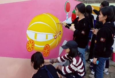 벽화봉사단 '행복울타리' 첫번째 벽화활동